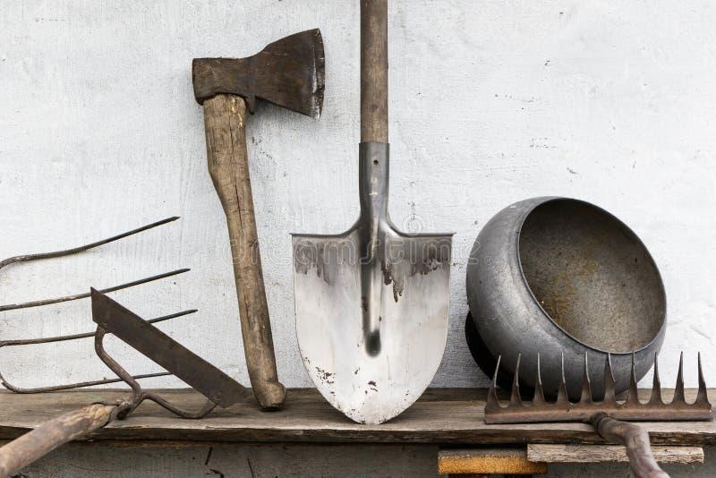 Παλαιός αγροτικός κήπος εργαλείων στοκ φωτογραφίες με δικαίωμα ελεύθερης χρήσης
