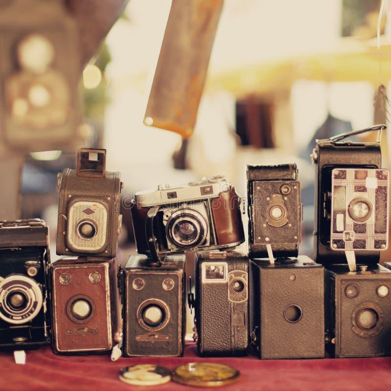 παλαιός αναδρομικός φωτογραφικών μηχανών στοκ εικόνες