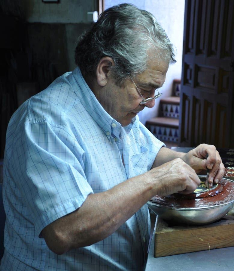 Παλαιός βιοτέχνης στοκ φωτογραφία