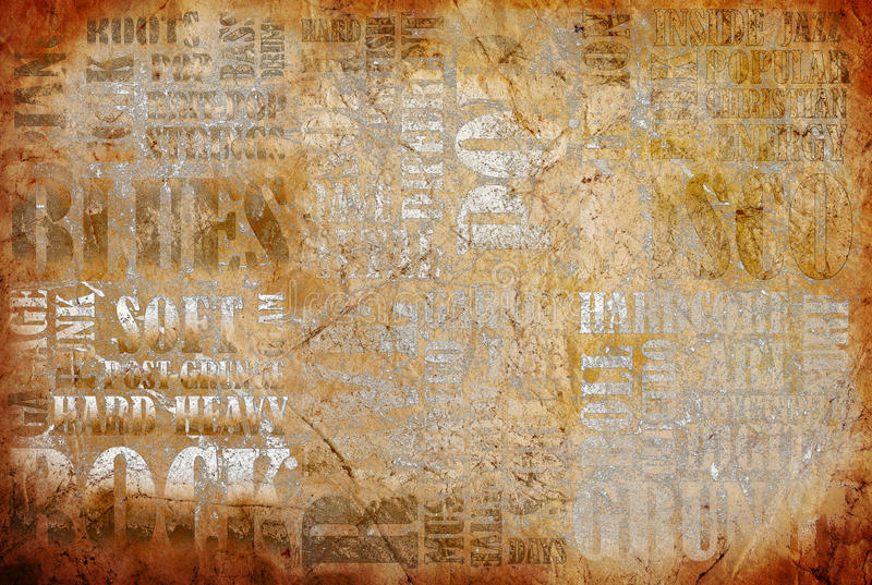 παλαιός βράχος αφισών μουσικής ελεύθερη απεικόνιση δικαιώματος