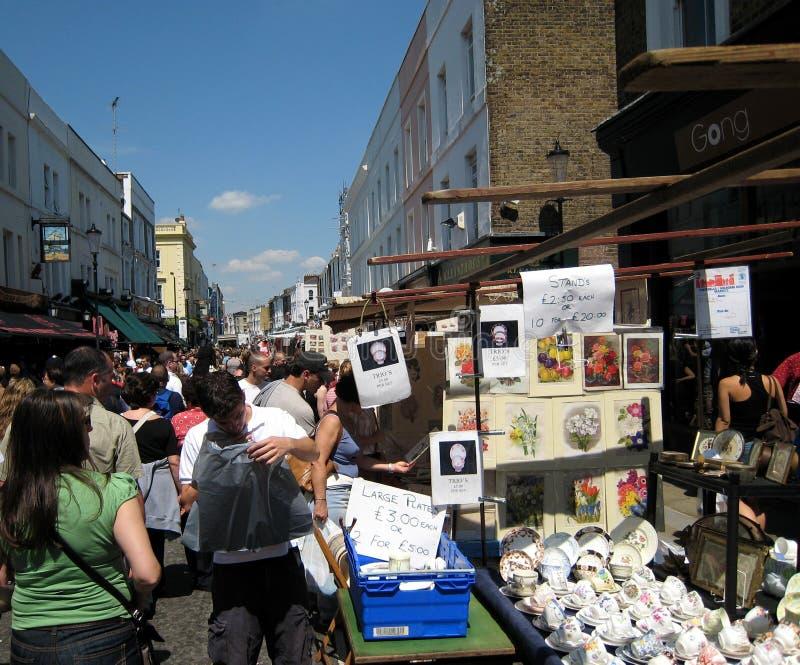 παλαιός δρόμος portobello αγοράς στοκ φωτογραφία με δικαίωμα ελεύθερης χρήσης