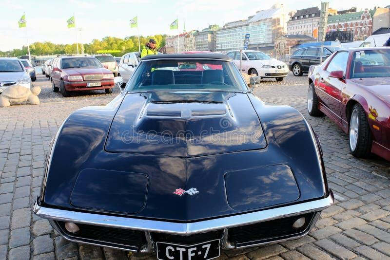 Παλαιός δρόμωνας Chevrolet αυτοκινήτων του Ελσίνκι, Φινλανδία στοκ φωτογραφία με δικαίωμα ελεύθερης χρήσης