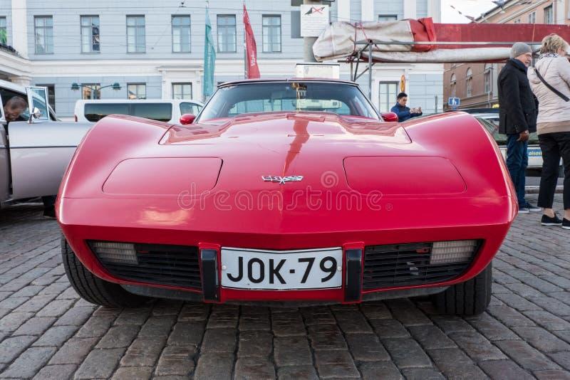 Παλαιός δρόμωνας Chevrolet αυτοκινήτων του Ελσίνκι, Φινλανδία στοκ εικόνες
