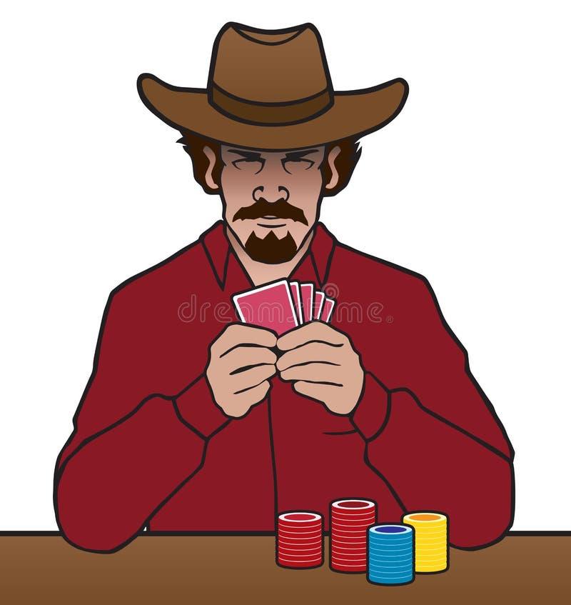 Παλαιός δυτικός παίκτης διανυσματική απεικόνιση