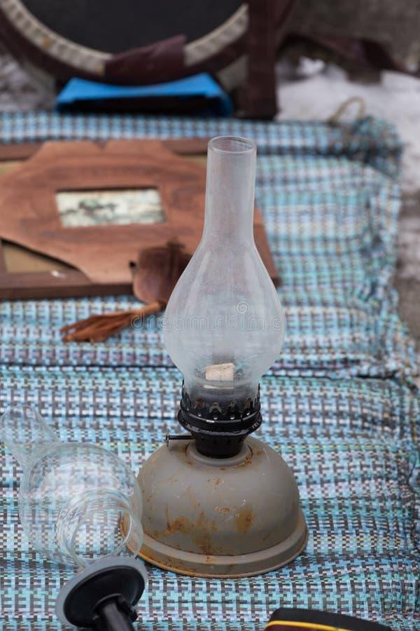 Παλαιός εκλεκτής ποιότητας λαμπτήρας κηροζίνης παζαριών στο Κίεβο στοκ εικόνες με δικαίωμα ελεύθερης χρήσης