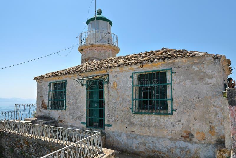 Παλαιός ενετικός φάρος πολεμιστών του παλαιού φρουρίου της Κέρκυρας, Kerkyra, νησί της Κέρκυρας, Ελλάδα, Ευρώπη στοκ φωτογραφίες