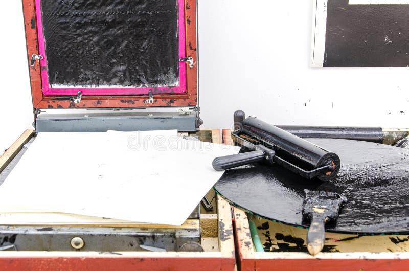 Παλαιός εξοπλισμός αντιγραφής μελανιού στοκ εικόνες