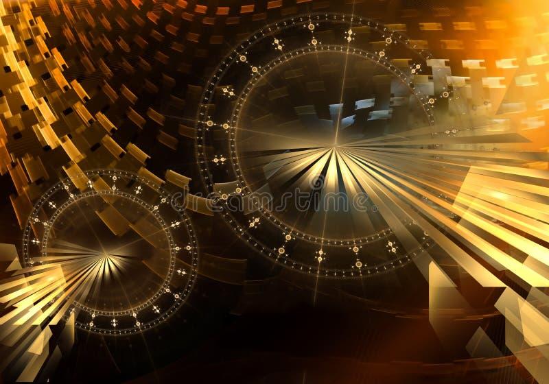 Παλαιός ζωηρόχρωμος μηχανισμός με τις χρυσές ρόδες εργαλείων μετάλλων ελεύθερη απεικόνιση δικαιώματος