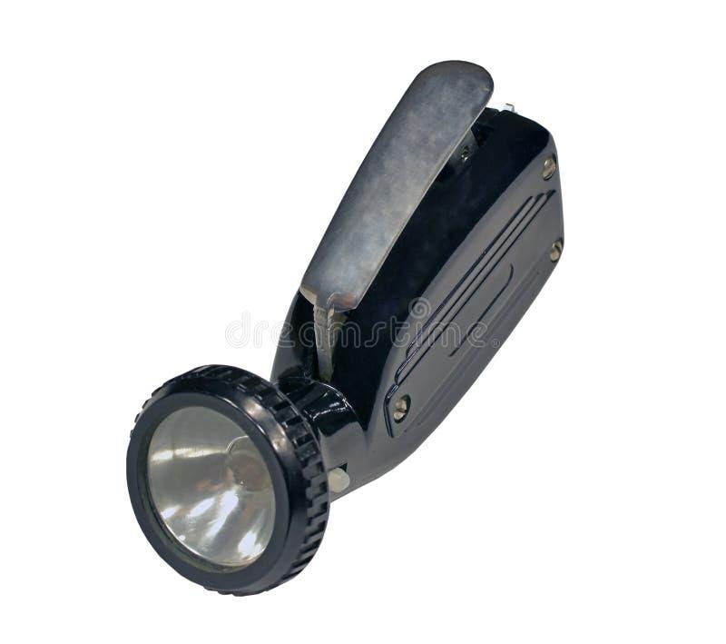Παλαιός ηλεκτρικός φανός σε ένα λευκό στοκ εικόνες με δικαίωμα ελεύθερης χρήσης