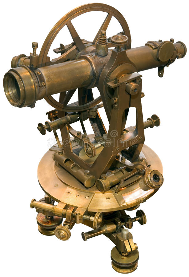 παλαιός θεοδόλιχος tacheometer &delta στοκ φωτογραφία με δικαίωμα ελεύθερης χρήσης