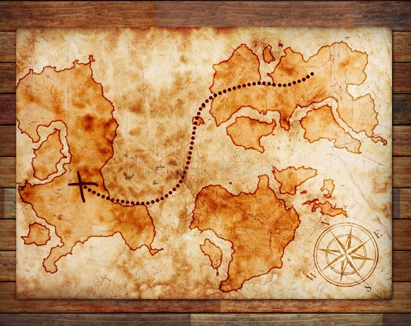 παλαιός θησαυρός χαρτών στοκ φωτογραφία