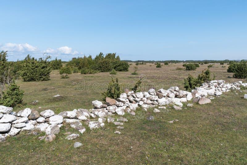 Παλαιός καταρρεσμένος τοίχος πετρών στοκ εικόνες