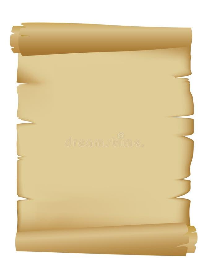 παλαιός κυλημένος κύλινδρος διανυσματική απεικόνιση