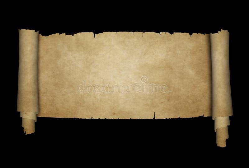 Παλαιός κύλινδρος περγαμηνής διανυσματική απεικόνιση