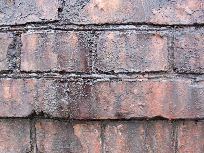 Παλαιός λιπαρός τουβλότοιχος στοκ φωτογραφίες με δικαίωμα ελεύθερης χρήσης