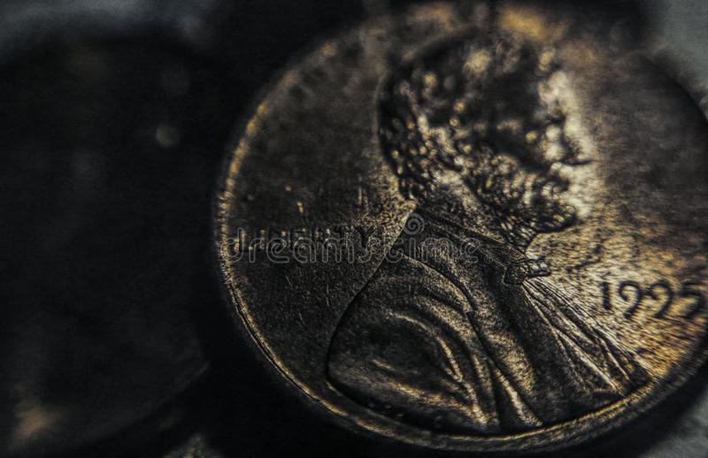 Παλαιός νόμισμα σεντ r στοκ φωτογραφία με δικαίωμα ελεύθερης χρήσης