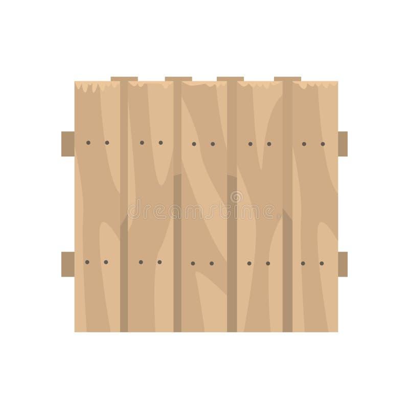 Παλαιός ξύλινος καφετής φράκτης, όριο για το αγρόκτημα διανυσματική απεικόνιση