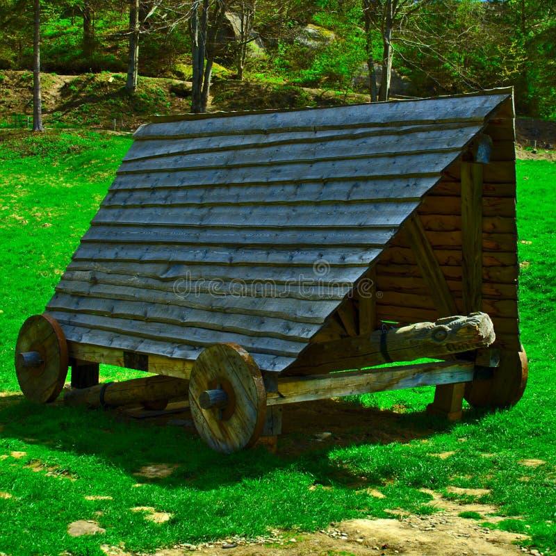 Παλαιός ξύλινος κριός ξύλου στοκ φωτογραφίες