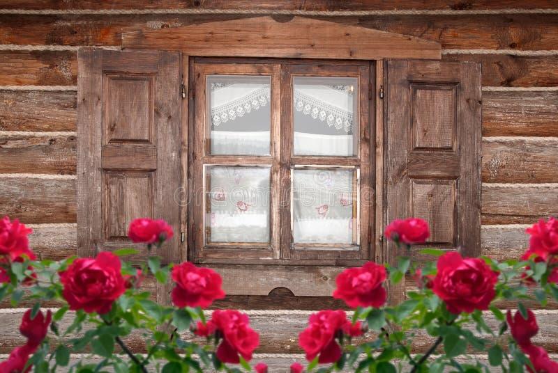 παλαιός ξύλινος σπιτιών στοκ εικόνες