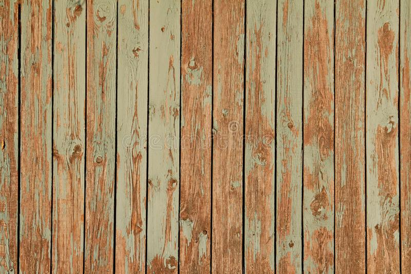 Παλαιός πράσινος ξύλινος τοίχος στοκ εικόνες