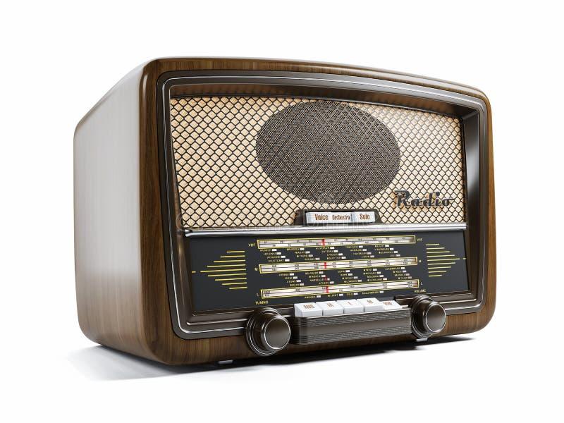 Παλαιός ραδιο δέκτης τρισδιάστατος απεικόνιση αποθεμάτων