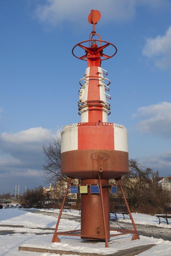 Παλαιός σημαντήρας νερού στο Γντανσκ στοκ εικόνες με δικαίωμα ελεύθερης χρήσης