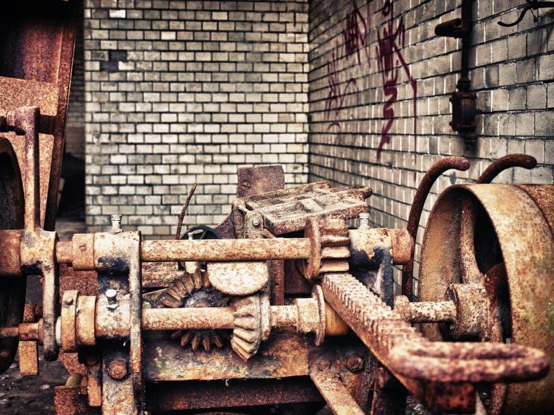παλαιός σκουριασμένος &eps στοκ φωτογραφία
