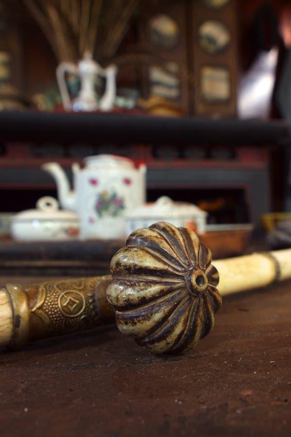 Παλαιός σωλήνας οπίου στοκ φωτογραφία