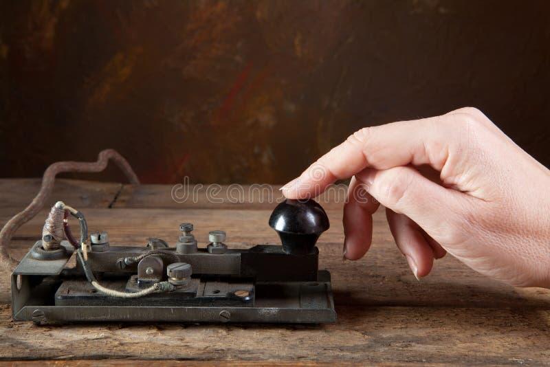 παλαιός τηλέγραφος στοκ εικόνες