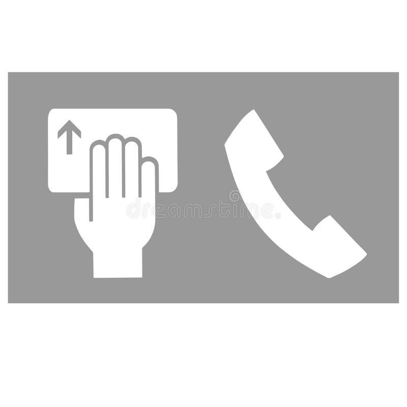 Παλαιός τηλεφωνικός δέκτης και ανθρώπινο χέρι με μια κάρτα ελεύθερη απεικόνιση δικαιώματος