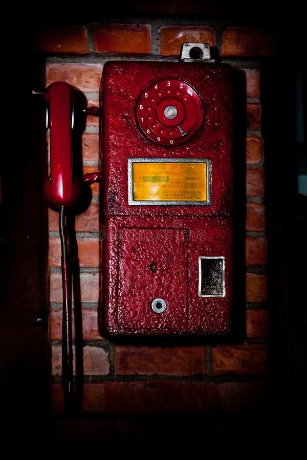 παλαιός τηλεφωνικός τοίχ&o στοκ εικόνες
