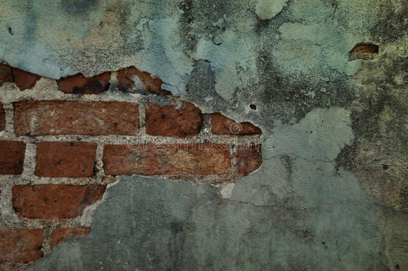 Παλαιός τοίχος με ραγισμένος στοκ φωτογραφία