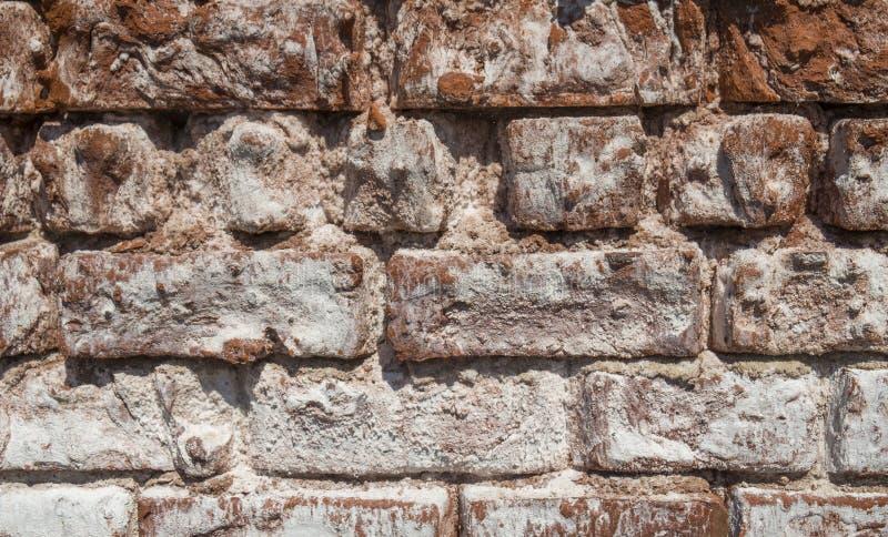 Παλαιός τουβλότοιχος που παρουσιάζει ξεπερασμένη σύσταση στοκ εικόνες με δικαίωμα ελεύθερης χρήσης