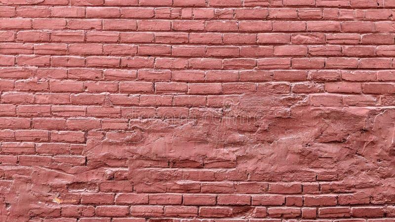 Παλαιός τουβλότοιχος grunge που χρωματίζεται στο κόκκινο απεικόνιση αποθεμάτων