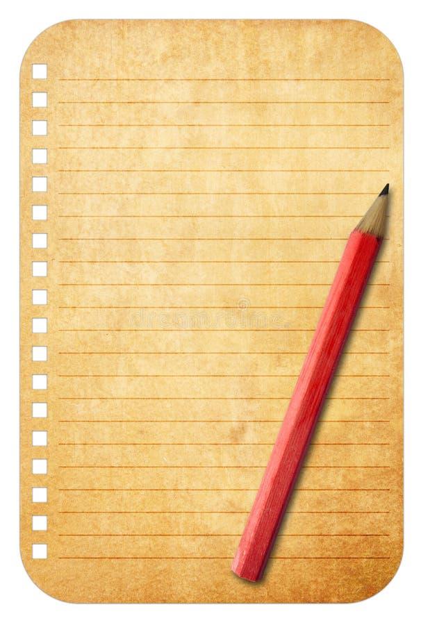 παλαιός τρύγος εγγράφου σημειώσεων στοκ εικόνες