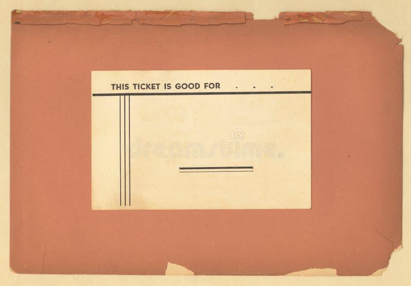 παλαιός τρύγος εισιτηρίων εγγράφου στοκ εικόνα με δικαίωμα ελεύθερης χρήσης