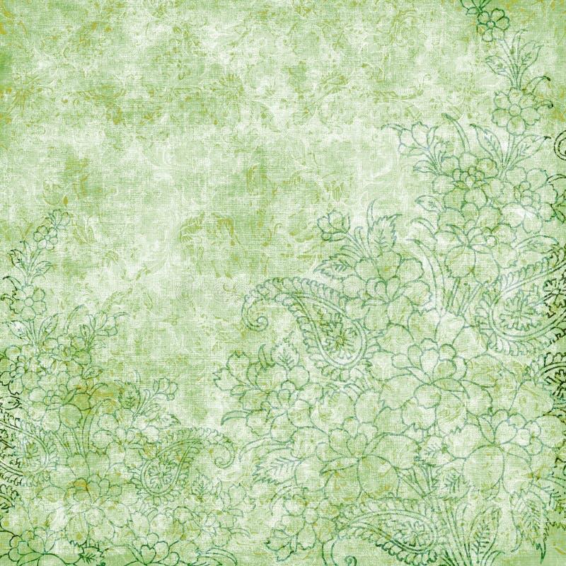 παλαιός τρύγος θέματος ανασκόπησης floral απεικόνιση αποθεμάτων