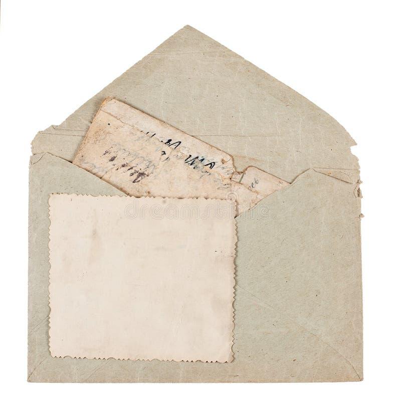 παλαιός τρύγος καρτών φακέ&l στοκ φωτογραφία