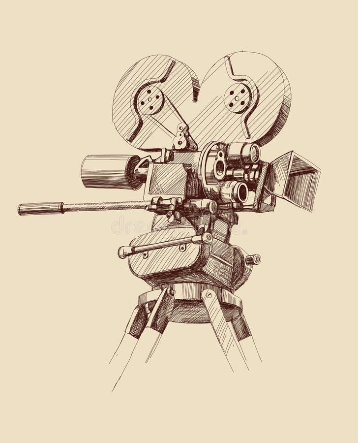 παλαιός τρύγος κινηματογράφων φωτογραφικών μηχανών ελεύθερη απεικόνιση δικαιώματος