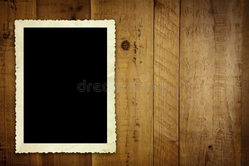 παλαιός τρύγος ξυλείας φωτογραφιών στοκ φωτογραφίες