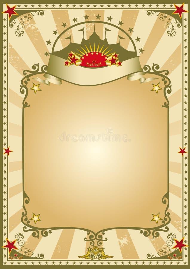 παλαιός τρύγος τσίρκων απεικόνιση αποθεμάτων