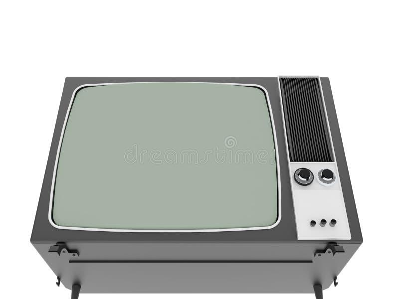 παλαιός τρύγος TV απεικόνιση αποθεμάτων