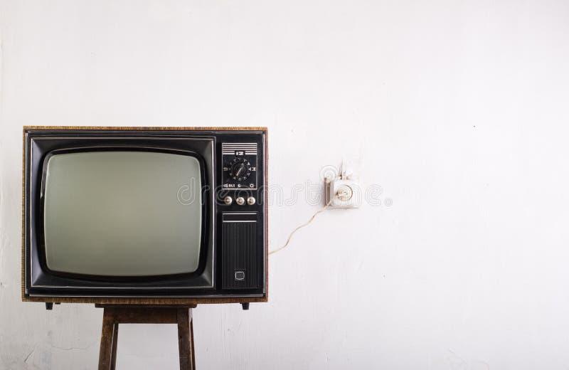 παλαιός τρύγος TV στοκ φωτογραφία