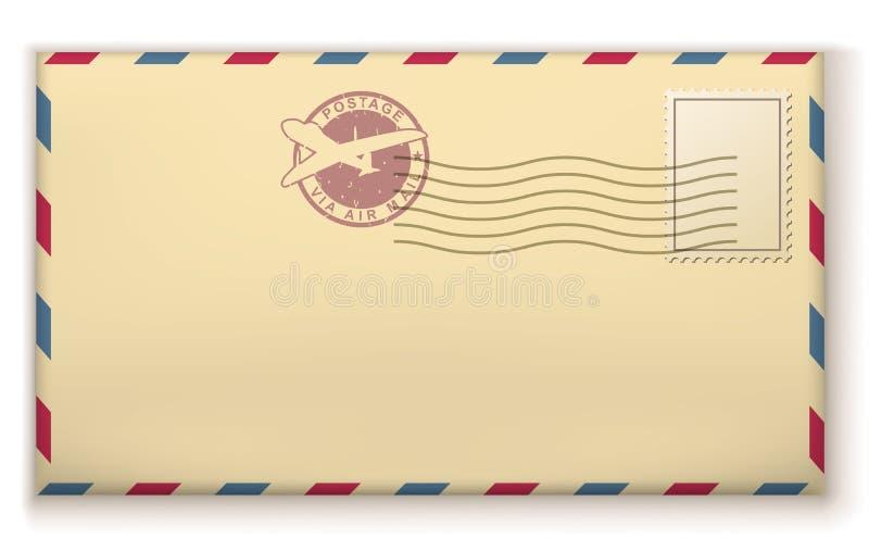 Παλαιός φάκελος ταχυδρομικών τελών ελεύθερη απεικόνιση δικαιώματος