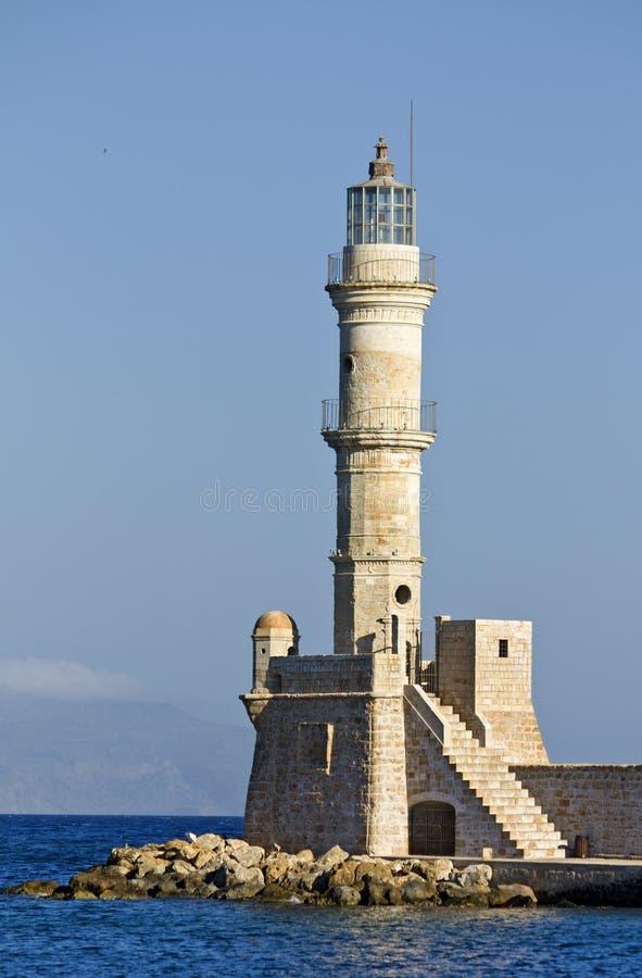 Παλαιός φάρος στο νησί της Κρήτης, Ελλάδα στοκ εικόνες