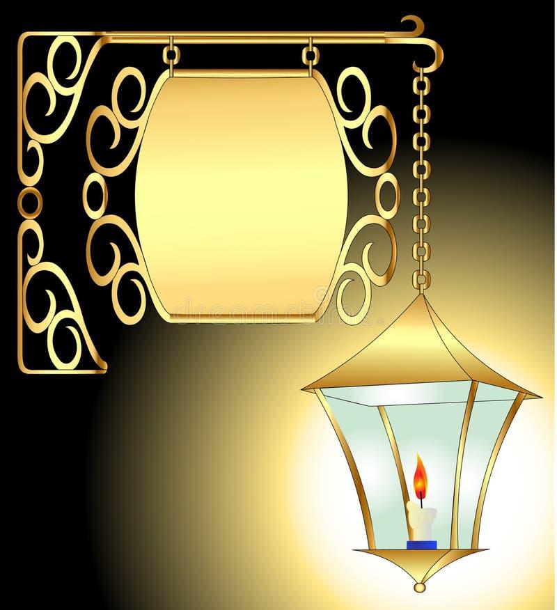 παλαιός φανός προτύπων κερ& απεικόνιση αποθεμάτων