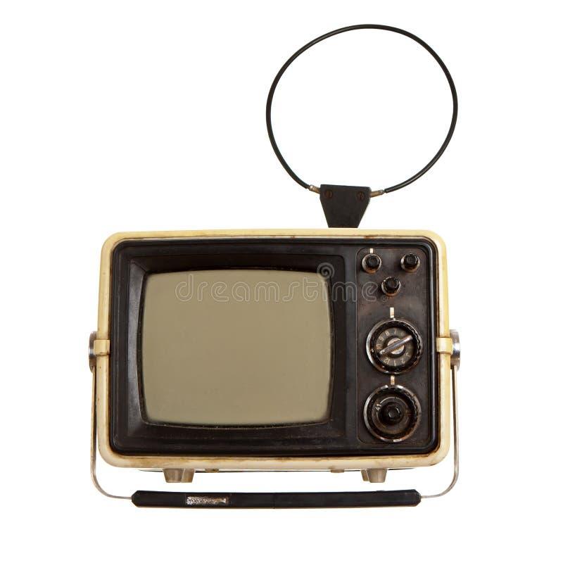 Παλαιός φορητός δέκτης TV στοκ φωτογραφίες