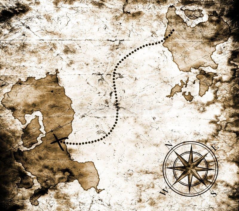 Παλαιός χάρτης θησαυρών στοκ φωτογραφίες