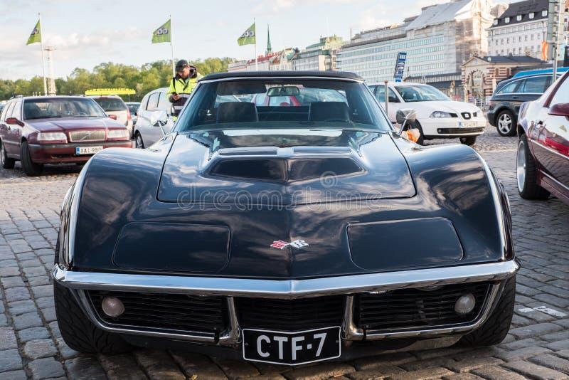 Παλαιός Chevrolet δρόμωνας Stingray του Ελσίνκι, Φινλανδία στοκ εικόνες