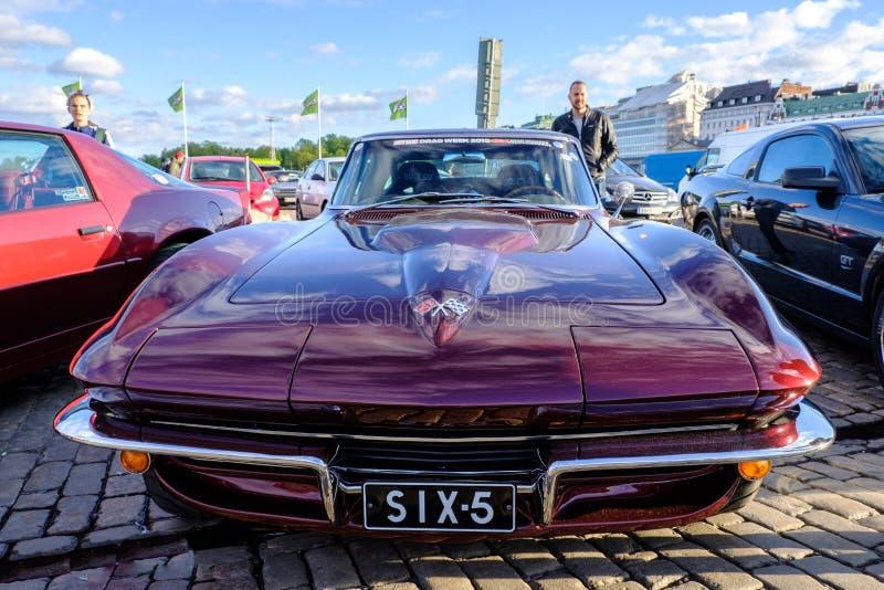 Παλαιός Chevrolet δρόμωνας Stingray του Ελσίνκι, Φινλανδία στοκ φωτογραφίες με δικαίωμα ελεύθερης χρήσης